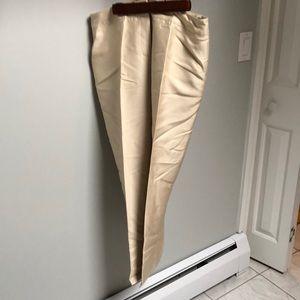 Silk/wool blend pants